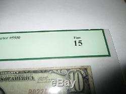 10 1929 $ Honolulu Hawaii Banque Nationale De Monnaie De Hi Note Bill Ch. # 5550 Pcgs Fine