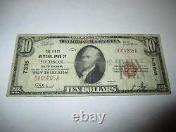 10 1929 Hudson Dakota Du Sud Sd Monnaie Nationale Banque Note Bill Ch. #7335 Fine
