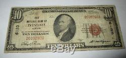 10 $ 1929 Ivesdale Illinois IL Banque Nationale Monnaie Note Bill Ch. # 6133 Fin