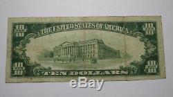 10 $ 1929 Janesville Wisconsin Wi Banque Nationale Monnaie Note Bill! Ch # 2748 Fin
