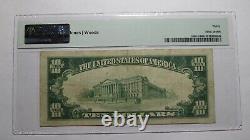 10 $ 1929 Jefferson City Missouri Mo Monnaie Nationale Bill #1809 Vf30