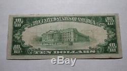10 $ 1929 Kalispell Montana Mt Banque Nationale Monnaie Note Bill! # 4586 Fin Rare