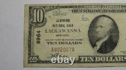 $10 1929 Lackawanna New York Ny National Currency Bank Note Bill Ch. #6964 Vf