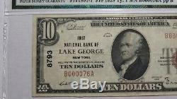 10 $ 1929 Lake George New York, Ny Banque Nationale Monnaie Note Bill Ch. # 8793 Vf30