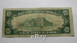 10 $ 1929 Lawrence Massachusetts Ma Banque Nationale Monnaie Note Bill! Ch. # 1014