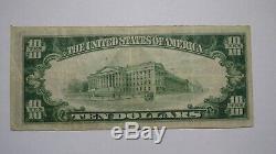 10 $ 1929 Leavenworth Kansas Ks Facture De Billet De Banque Nationale! Ch. # 3033 Vf +