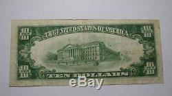 10 $ 1929 Lehighton Pennsylvania Pa Banque Nationale Monnaie Note Bill # 6531 Vf
