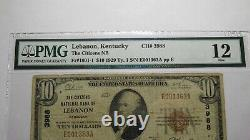 10 1929 Liban Kentucky Ky Monnaie Nationale Note Banque Bill Ch #3988 F12 Pmg