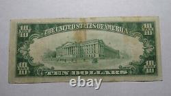 10 $ 1929 Logan Iowa Ia National Currency Bank Note Bill! Charte #6771 Vf+