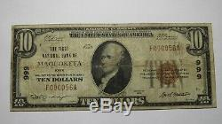 10 $ 1929 Maquoketa Iowa Ia Banque Nationale Monnaie Note Bill Ch. # 999! Fin Rare