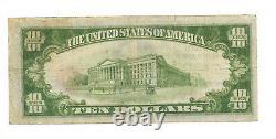 10 $. 1929 Mason City Iowa National Currency Bank Note Bill Ch. #2574