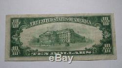 10 $ 1929 Mcconnelsville Ohio Oh Banque Nationale Monnaie Note Bill! Ch. # 5259 Vf