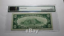 10 $ 1929 Michigan Caspian MI Banque Nationale Monnaie Note Bill! Ch. # 11802 Vf Pmg