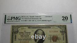 $10 1929 Milbank South Dakota Sd National Currency Bank Note Bill Ch #13407 Vf20