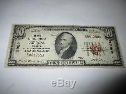 10 $ 1929 Nevada Missouri Missouri Banque Nationale De Billets De Banque Bill! Ch. # 3959 Rare