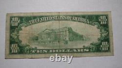 10 $ 1929 New Britain Connecticut Ct Banque Nationale Monnaie Remarque Le Projet De Loi # 12846 Fin