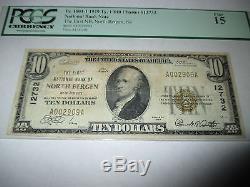 $ 10 1929 North Bergen New Jersey Nj Note De La Banque Nationale De Billets Bill N ° 12732 Fine