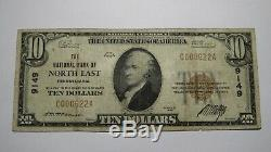 10 $ 1929 North East Pennsylvania Pa Banque Nationale Monnaie Remarque Le Projet De Loi # 9149 Fin