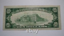 10 $ 1929 Northampton Massachusetts Ma Banque Nationale Monnaie Note Bill! # 1018 Vf