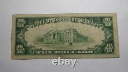 10 $ 1929 Nouvelle Albany Indiana En Monnaie Nationale Bill! Ch. #2166 Fine