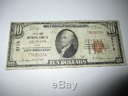 10 $ 1929 Oelwein Iowa Ia Note De La Banque Monétaire Nationale Bill! Ch. # 5778 Rare
