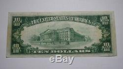 10 $ 1929 Oil City Pennsylvania Pa Banque Nationale Monnaie Note Bill Ch. # 5240 Vf +