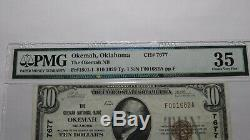 10 $ 1929 Okemah Oklahoma Ok Banque Nationale Monnaie Note Bill Ch. # 7677 Vf35 Pmg