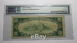 10 $ 1929 Ontario Californie Ca Banque Nationale Monnaie Note Bill Ch. # 6268 Vf20