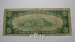 10 $ 1929 Orwell Vermont Vt Banque Nationale Monnaie Note Bill Ch. # 228 Fin Rare
