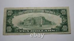 $10 1929 Oswego New York Ny National Currency Bank Note Bill Ch. #255 Fine