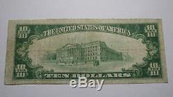 10 $ 1929 Ottawa Kansas Ks Banque Nationale Monnaie Note Bill! Ch. # 1910 Vf! Rare