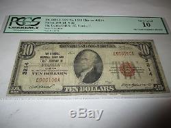 10 $ 1929 Peoria Illinois IL Note De Banque Nationale Note Bill # 3214 Numéro De Série 100