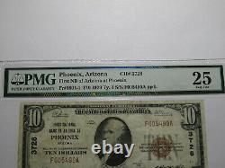 10 $ 1929 Phoenix Arizona Az Banque Nationale Monnaie Note Bill! Ch. # 3728 Vf25 Pmg