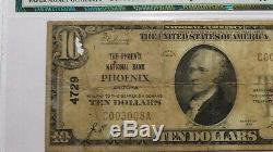 10 $ 1929 Phoenix Arizona Az Banque Nationale Monnaie Note Bill! Ch. # 4729 Vf Pmg