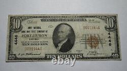 $10 1929 Port Huron Michigan MI National Currency Bank Note Bill! Ch. #4446 Rare