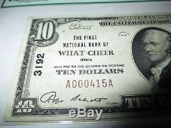 10 $ 1929 Quelle Note De Note De Banque De La Monnaie Nationale De Ia De Cheer Iowa Ia! Ch # 3192 Vf30 Pcgs