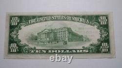 $10 1929 Rapid City Dakota Du Sud Sd Monnaie Nationale Bill #14099 Xf+