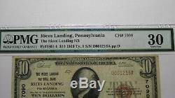 10 $ 1929 Rices Landing Pennsylvania Pa Banque Nationale Monnaie Note Bill Ch # 7090