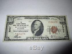 $ 10 1929 Riverside California Ca Note De La Banque Nationale De Billets Bill Ch. # 8907 Vf