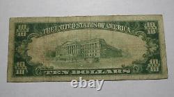 10 $ 1929 Rock Rapids Iowa Ia National Currency Bank Note Bill Ch. #3153 Fine
