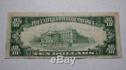 10 $ 1929 Saint Paul Minnesota Mn Banque Nationale Monnaie Note Bill! Ch. # 203 Vf