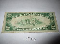 $ 10 1929 Santa Fe Nouveau-mexique Nm Banque De Billets De Banque Nationale Bill! Ch # 1750 Fine