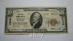 $10 1929 Seattle Washington Wa National Currency Bank Note Bill Ch. #13230 Vf