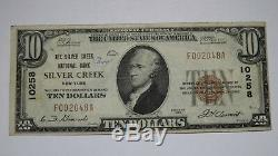 10 $ 1929 Silver Creek À New York Ny Banque Nationale Monnaie Note Bill Ch. # 10258 Vf