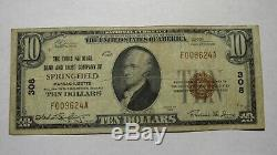 10 $ 1929 Springfield Massachusetts Ma Banque Nationale Monnaie Note Bill # 13532