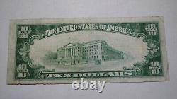 $10 1929 Spur Texas Tx National Currency Bank Bill Charter #9611 Rare
