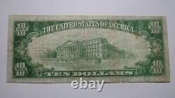 $10 1929 Trenton Missouri Mo National Currency Bank Note Bill Ch. #4933 Rare
