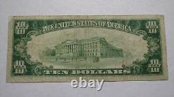 $10 1929 Trenton New Jersey Nj National Currency Bank Note Bill! Ch. #1327 Amende