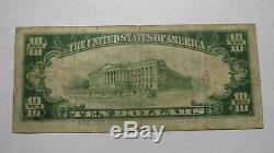 10 $ 1929 Tulsa Oklahoma Ok Banque Nationale Monnaie Note Bill Ch. # 13679 Fin