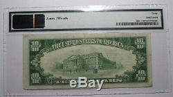 10 $ 1929 Valley City Dakota Du Nord Dakota Du Nord Banque Nationale Monnaie Note Bill # 13385 Pmg